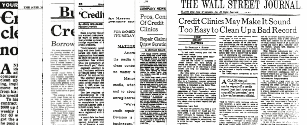 credit repair in the 1980s was abusive
